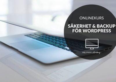 Säkerhet & Backup för WordPress