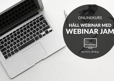 Hålla webinar med WebinarJam