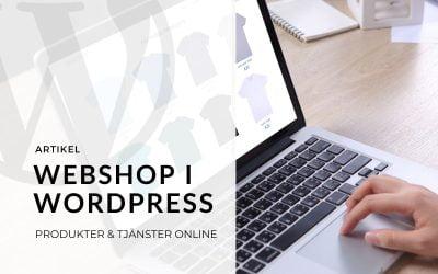 Sälj via hemsidan med E-handel & webshop