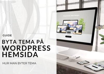 Byta tema på WordPress hemsida